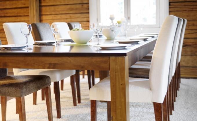 Интересные решения для обеденных столов